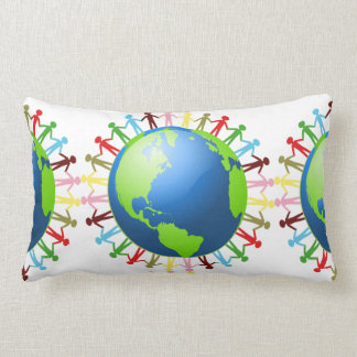 We Are All Connected oblong pillow