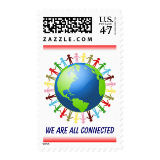 We Are All Connected stamp