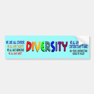 We Are All Diverse Bumper Sticker
