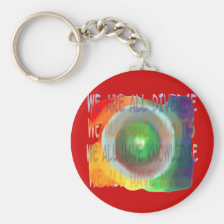 We Are All Diverse (Swirl) Keychain