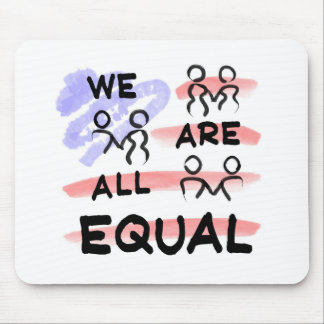 We Are All Equal American Flag Logo Mouse Pads