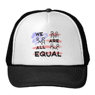 We Are All Equal American Flag Logo Trucker Hat