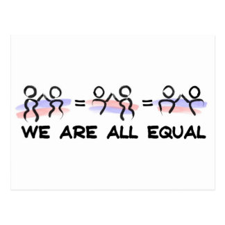 We Are All Equal Pairs Postcard