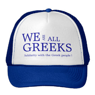 WE ARE ALL GREEKS TRUCKER HAT