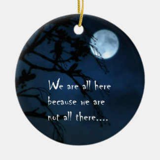 We Are All Here Double-Sided Ceramic Round Christmas Ornament