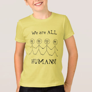 We are ALL HUMANS Stick Figures Kids T-shirt