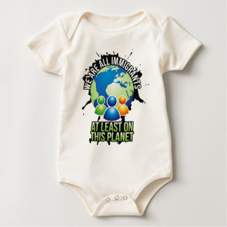 We are all immigrants baby bodysuit