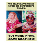 WE ARE ALL IN THE SAME BOAT poster