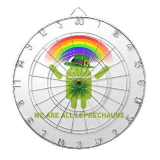 We Are All Leprechauns Bugdroid Rainbow Dart Board