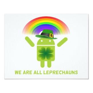 We Are All Leprechauns (Bugdroid Rainbow) Invitation