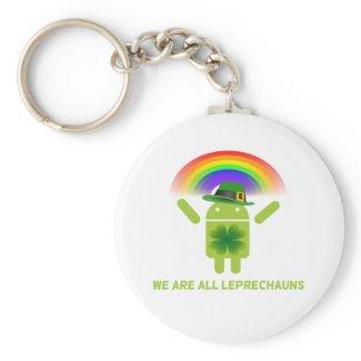 We Are All Leprechauns (Bugdroid Rainbow) Key Chain