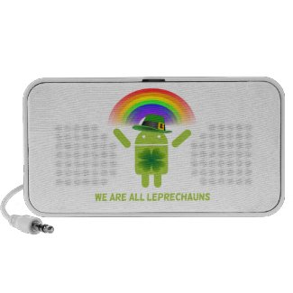 We Are All Leprechauns (Bugdroid Rainbow) iPhone Speaker