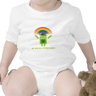 We Are All Leprechauns (Bugdroid Rainbow) Baby Bodysuits