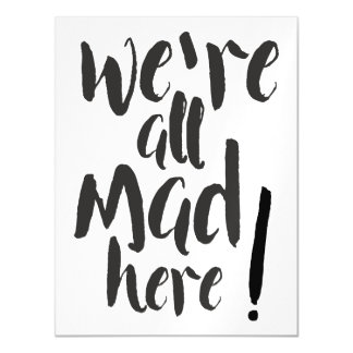 We are all mad here - black magnetic card