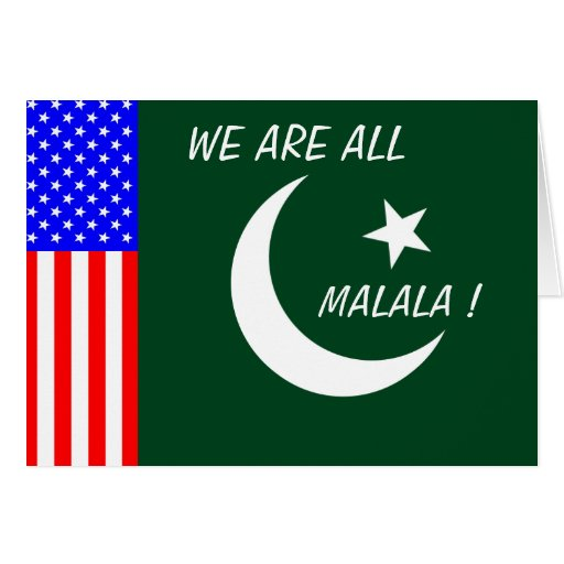 WE ARE ALL MALALA ! CARD