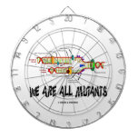 We Are All Mutants (DNA Replication) Dartboard With Darts