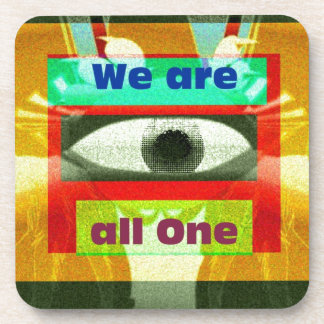 We are all One! Beverage Coaster