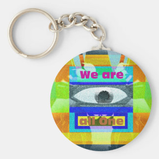 We are all One!! Keychain