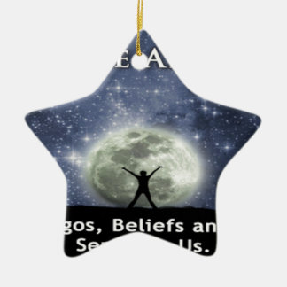 we are all one. Double-Sided star ceramic christmas ornament