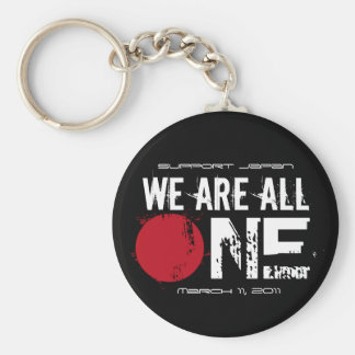 We Are All One - Support Japan Basic Round Button Keychain