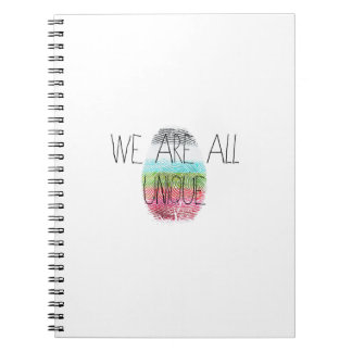 we are all unique notebook