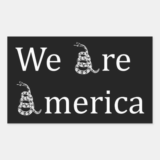We Are America Rectangular Sticker