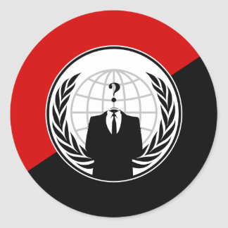 We Are Anonymous Anarchist Flag Classic Round Sticker