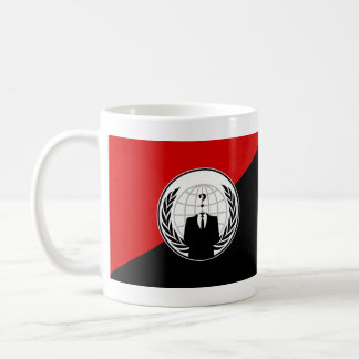 We Are Anonymous Anarchist Flag Classic White Coffee Mug