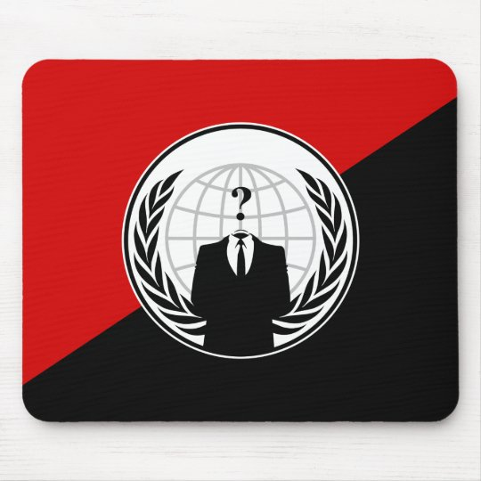We Are Anonymous Anarchist Flag Mouse Pad
