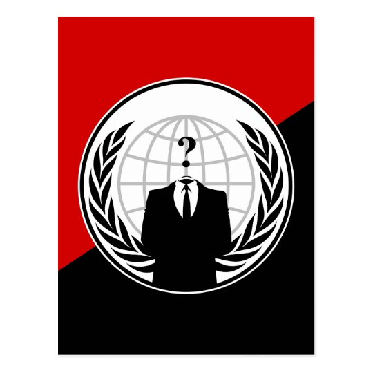 We Are Anonymous Anarchist Flag Postcard