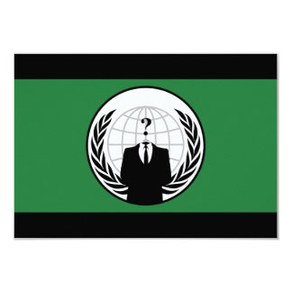 We Are Anonymous Green and Black Flag Card