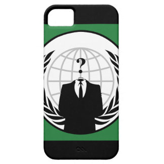 We Are Anonymous Green and Black Flag iPhone 5 Case