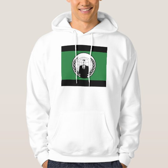 We Are Anonymous Green and Black Flag Hoodie