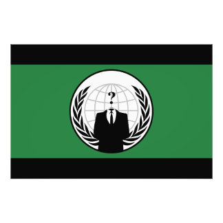 We Are Anonymous Green and Black Flag Photo Print