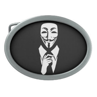 We are anonymous oval belt buckle