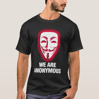 WE ARE ANONYMOUS. (RED) T-Shirt