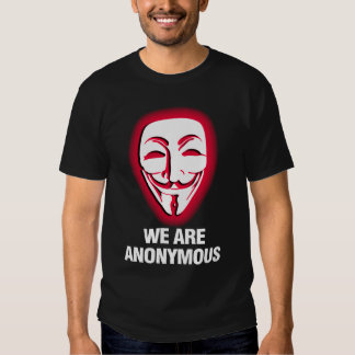 WE ARE ANONYMOUS. (RED) TEE SHIRT