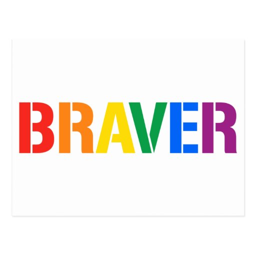 WE ARE BRAVER POSTCARDS