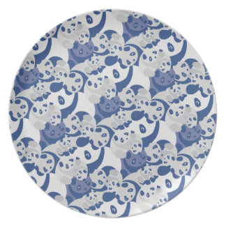 We are Bulging Plate Blue Melamine