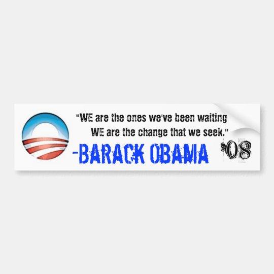 We Are Change Bumper Sticker