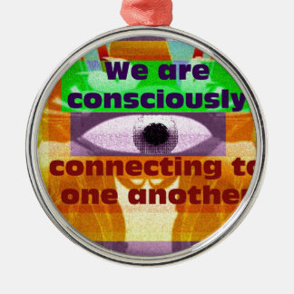 We are consciously connecting metal ornament