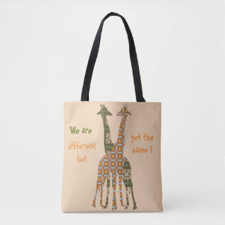 We Are Different But Yet The Same Tote Bag