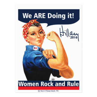 We ARE Doing it-Hillary 2016 Postcard