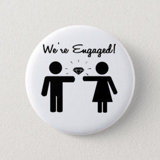 We Are Engaged Button