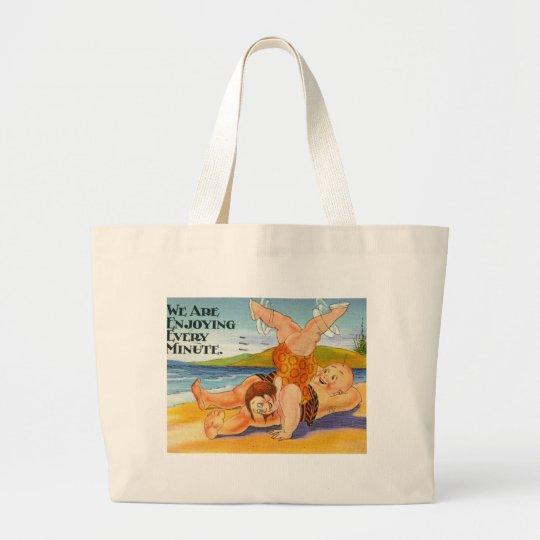 We Are Enjoying Every Minute Vacation Vintage Large Tote Bag