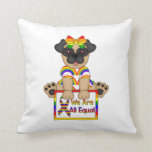We Are Equal Gay Pride Pug Pillow