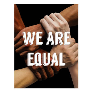 We Are Equal Postcard