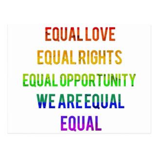 We Are Equal! Postcard