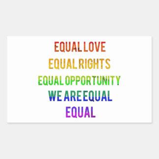 We Are Equal! Rectangular Sticker