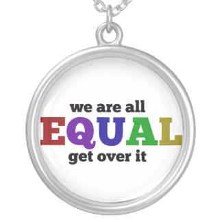We are Equal Silver Plated Necklace